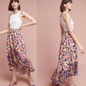 Anthropologie Hutch Hi Low Dress Floral Small
